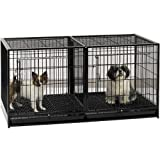 dog modular cage - ProSelect Steel Modular Cage with Plastic Tray, Black