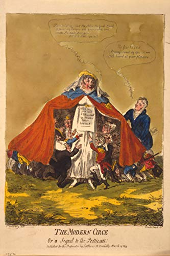 ClassicPix Photo Print 12x18: The Modern Circe Or A Sequel to The Petticoat, 1809