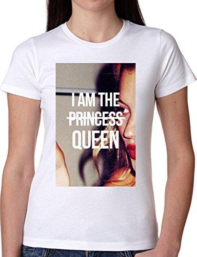 ... FASHION COOL BIANCA - WHITE L. T SHIRT JODE GIRL GGG22 Z0418 I'M THE  PRINCESS QUEEN MEME GIRL WOMAN FUN