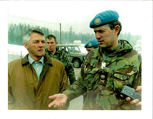 - Vintage photo of Lt. Gen. Sir. Michael Rose with Sergio De Mello.