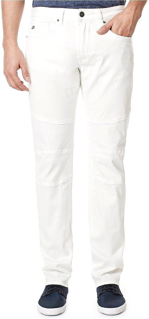 Buffalo David Bitton Mens Ash Skinny Fit Fashion Jean in a White Simple Rinse Wash