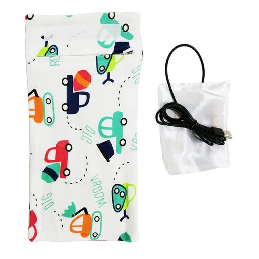 Sallymonday Baby Bottle Warmer A USB Heat Keeper Portable Warmer Bag Travel Stroller Insulated Bag Baby Nursing Bottle Heater