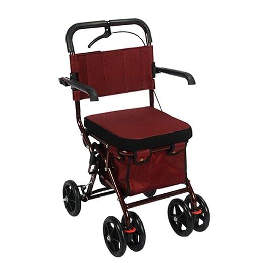 Accesorios para andadores con ruedas Walker Ancianos Carrito De La ...