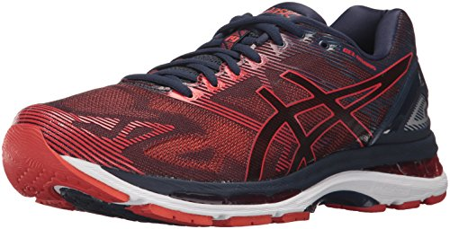 ASICS Men's Gel-Nimbus 19 Running Shoe, Peacoat/Red Clay/Peacoat, 8 Medium US by ASICS