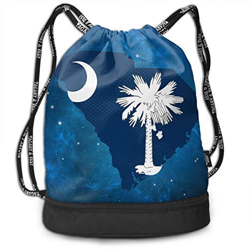 Zhangyi South Carolina Scholarships Drawstring Backpack Sports Gym Cinch Sack Bag for Women Men Children Gymsack Sackpack