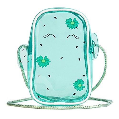 Mini Simple Fresh Fashion ZCM Small Jelly Women's Bag Mobile Bag Phone Transparent Bag Portable Cactus Messenger F8Eq1nv8f