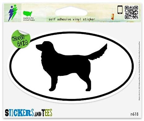 Nova Scotia Duck Tolling Retriever Dog Breed Shape Oval car window bumper vinyl