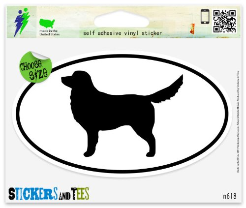 Nova Scotia Duck Tolling Retriever Dog Breed Shape Oval Vinyl Car Bumper Window Sticker 3