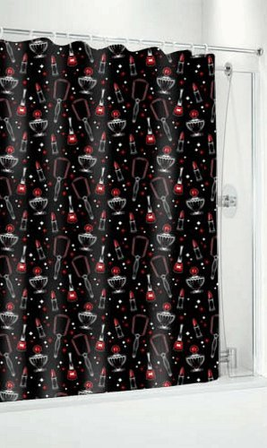 Vintage Beauty Shower Curtain from Sourpuss Clothing (50s Tattoos)