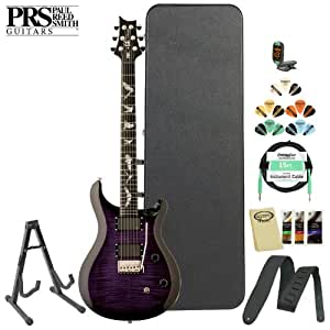 Paul Reed Smith SE Paul Allender Purple Electric Guitar Kit- Includes: Tuner, Cable, Strap, Strings, Stand, Picks and Hard Case