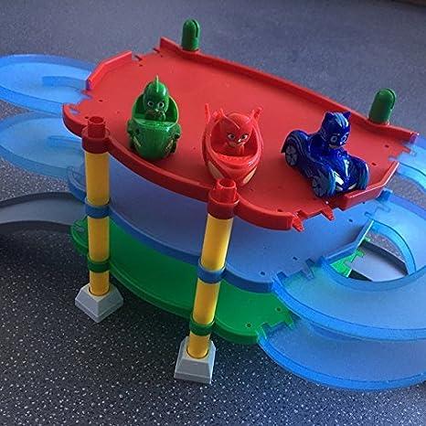 Amazon.com: Toy, Play, Fun, Pj Cartoon Mask 3 Floor Parking Lot Toy Les Pyjamasques Connor Greg Amaya Racing Car Jouet Children Christmas Juguetes Gift, ...