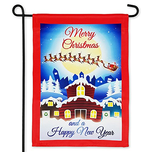 Harbor Bay Home Merry Christmas Garden Flag – Double Sided