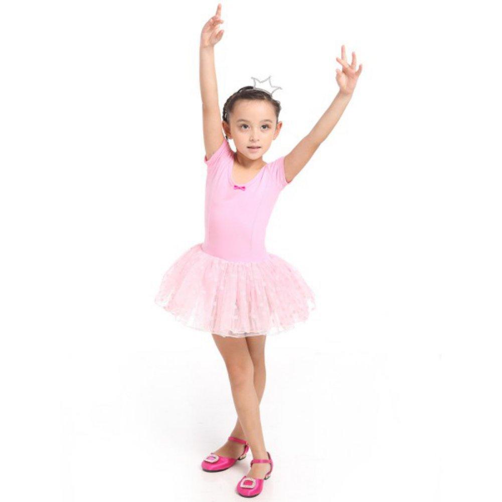 Jlong Kids Girls Ballet Tutu Party Leotard Skirt Dance Skate Dress 3-7Y