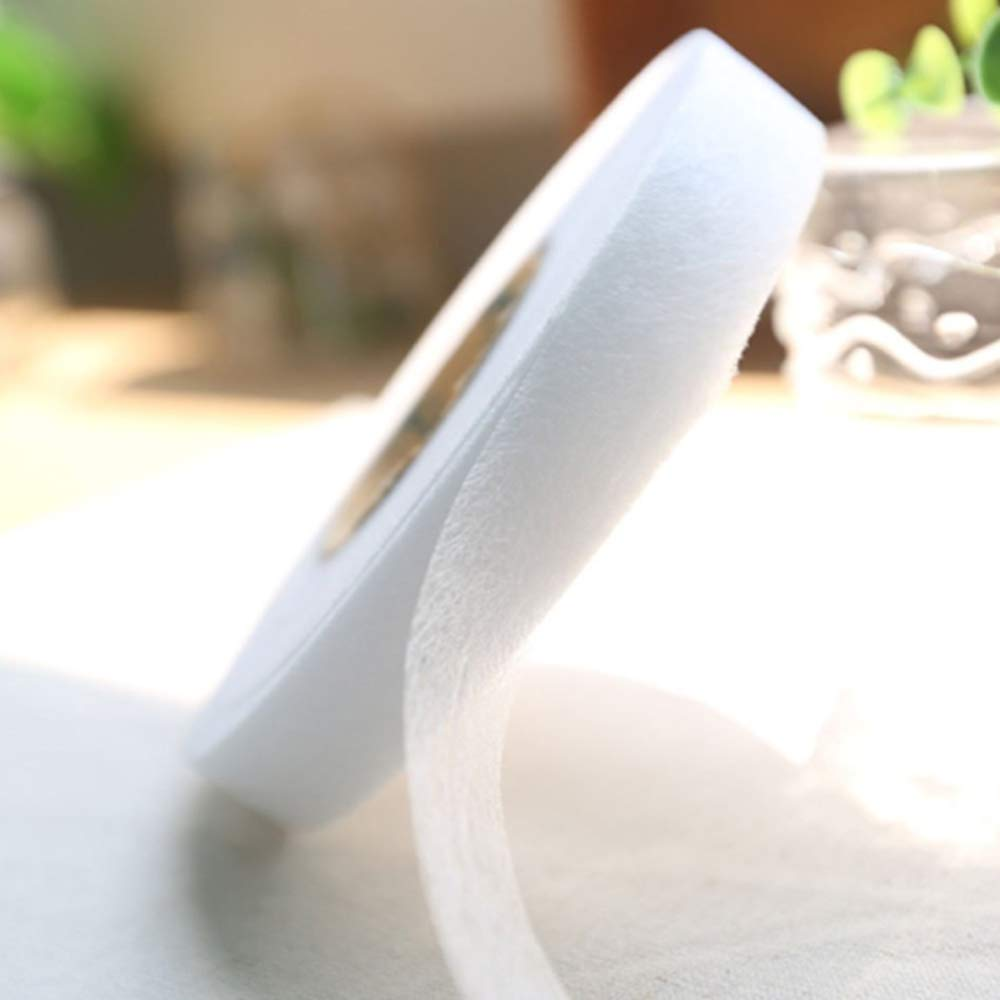 Nuluxi Saumband B/ügelband Stoff B/ügeleisen Klebeband B/ügel Saumband Verwendet f/ür N/ähfreien S/äumen und B/ügeln in dem Saum von Hose Jacke Kleid Mantel Gardine Vorhang Rock-15 mm Breit 4 B/ände,Wei/ß