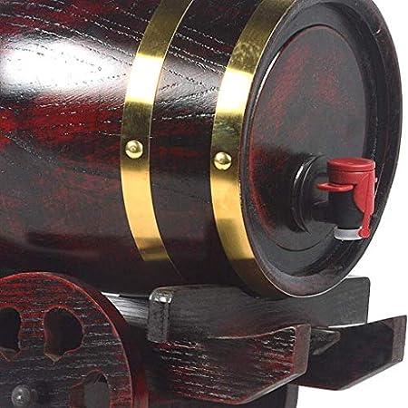 WJJ Botella de Whisky Cristal Barricas de Roble for vinos y Bebidas espirituosas envejecidas Barriles Partes Almacenamiento o, Bodas y más Decantadores de Vino (Size : 5l)