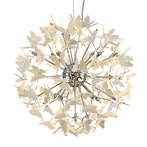 XAJGW Chandeliers Butterfly Fairy Dandelion LED Light Crystal Pendant Lighting LED Globe Living Room