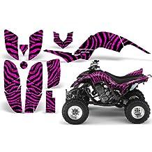 CreatorX Yamaha Raptor 660 Graphics Kit Decals Stickers Zebra Camo Pink