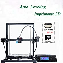 Imprimante Avancée Auto Leveling kit High Precision DIY 3D Printer X3A Large Aluminium Frame Reprap Prusa i3 with Separate LCD Screen, Large Print Size 220x220x300mm, Imprimante 3d with One Free 10m Filament Gift+8GB Card
