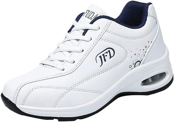 Sneakers Mujer Negras 2019,YiYLunneo Moda Zapatillas Informales Zapatos con amortiguación de Aire con Suela Gruesa Calzado de Deporte CN 35-40: Amazon.es: Ropa y accesorios