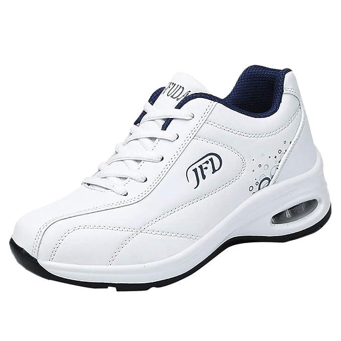 Sneakers Mujer Negras 2019,YiYLunneo Moda Zapatillas Informales Zapatos con amortiguación de Aire con Suela Gruesa Calzado de Deporte CN 35-40: Amazon.es: ...