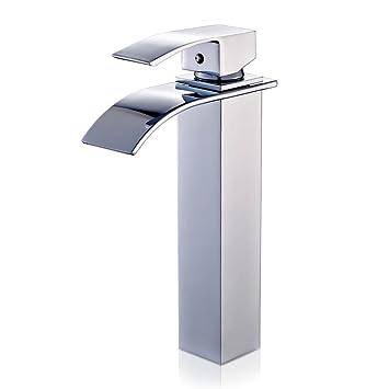auralum robinet mitigeur cascade avec bec haut pour lavabo ou vasque de salle de bain - Mitigeur Haut Vasque