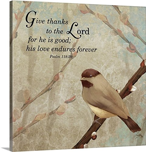 Medley Wall Hanging (Elizabeth Medley Premium Thick-Wrap Canvas Wall Art Print entitled Give Thanks 16