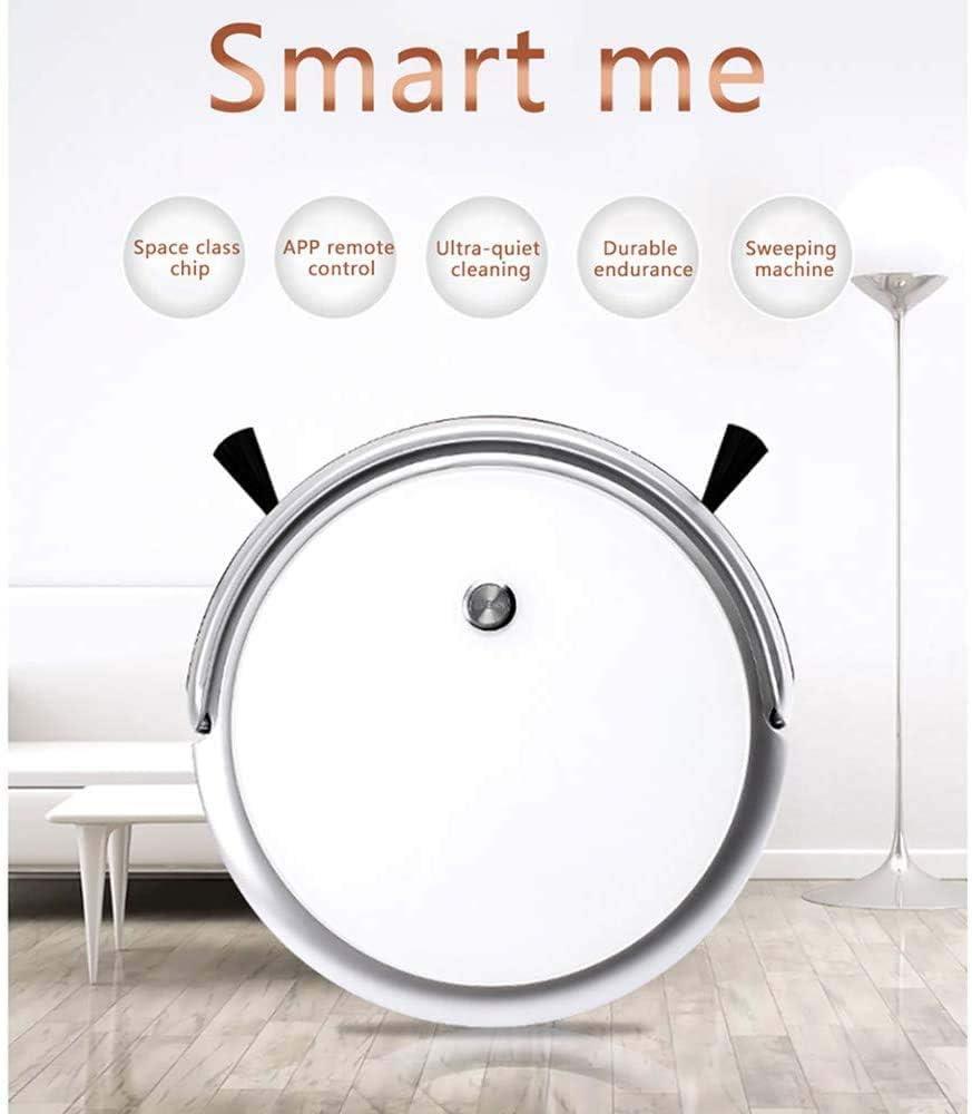 WJJH 360 ° Intelligent Robot Aspirateur, Mopping et l\'auto-Charge Aspirateur Robot de Balayage avec la Technologie Goutte-Sensing pour sols durs, Tapis, Poussière Etc,Blanc White