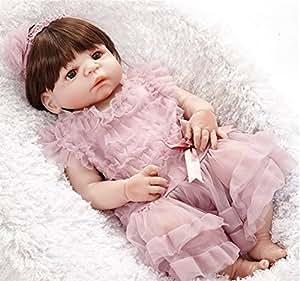 Amazon.es: O-YLS Realista 55cm Reborn Muñecas Bebé Bastante Niña ...