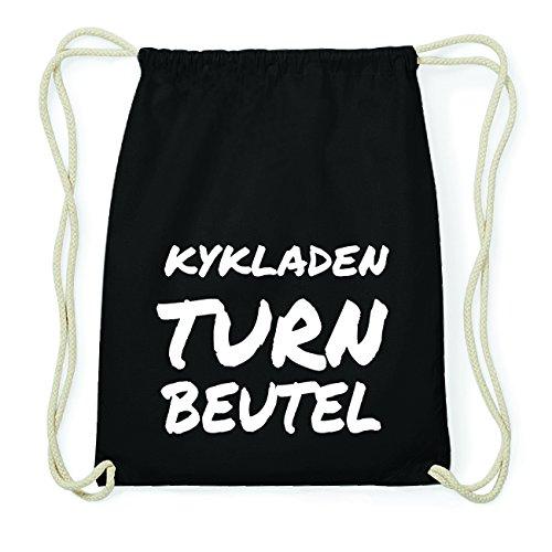 JOllify KYKLADEN Hipster Turnbeutel Tasche Rucksack aus Baumwolle - Farbe: schwarz Design: Turnbeutel sYzefj8qQN