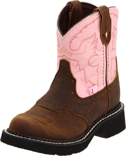 Justin Boots Gypsy Boot (Toddler/Little Kid/Big Kid),Pink Cow/Aged Bark,8.5 D US Toddler