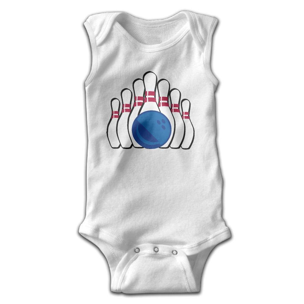 MMSSsJQ6 Bowling Clipart Infant Baby Boys Girls Crawling Suit Sleeveless Rompers Romper Jumpsuit White