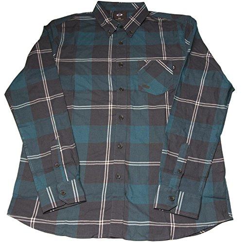 Oakley Men's Long Sleeve Shred Woven Shirt, Forest Green, - Oakley Us Store