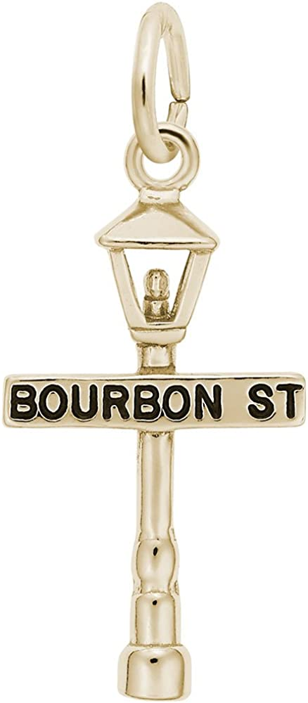 Charms for Bracelets and Necklaces Bourbon St Lamp Post Charm