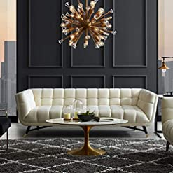 Living Room Modway Adept Contemporary Mid-Century Modern Performance Velvet Upholstered Tufted Sofa in Ivory modern sofas and couches