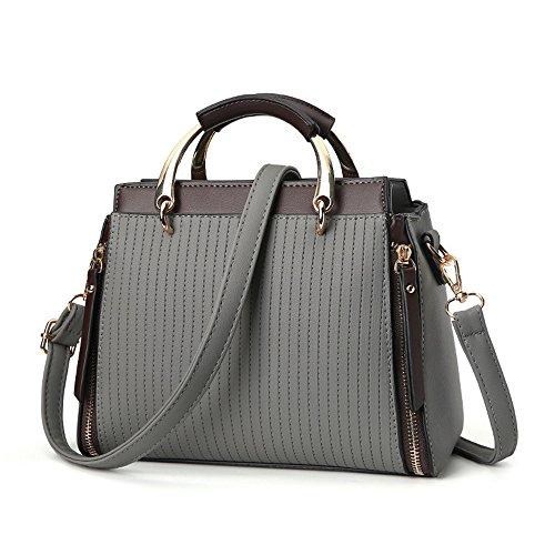 Gray Amarillo GWQGZ Hombro Atmósfera Nueva Simple Solo Inclinado Moda Span Handbag qZfgv