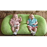 Twin Z PIllow + Light Green Cover + Free Travel Bag