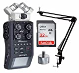 Zoom H6 Handy Recorder w/ Knox Boom Arm & Memory Card