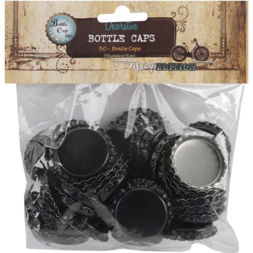 Standard Bottle Caps - Black