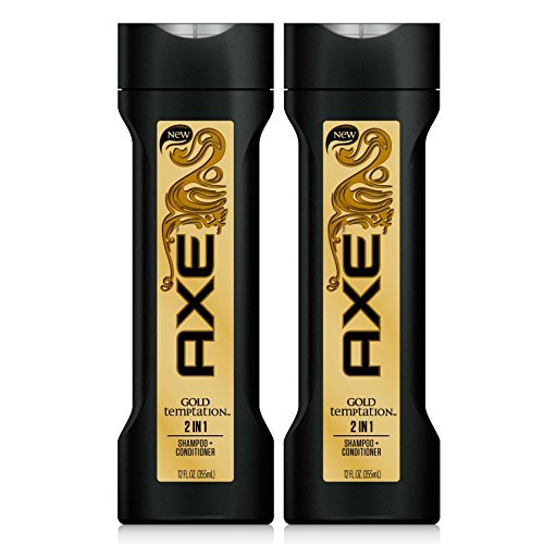 AXE 2 In 1 Shampoo + Conditioner, Gold Temptation, 12 Ounce (Pack of 2)