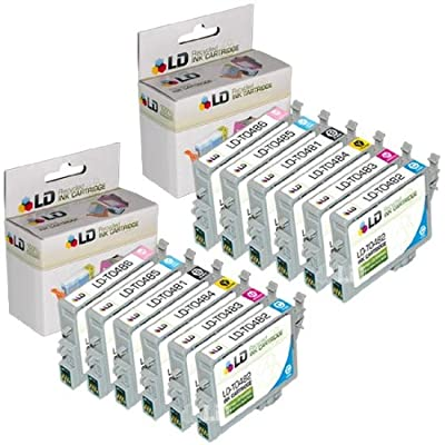 LD Remanufactured Ink Cartridge Replacement for Epson T048 (2xBlack, 2xCyan, 2xMagenta, 2xYellow, 2xLight Cyan, 2xLight Magenta, 12-Pack)