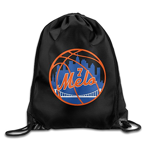 Price comparison product image LINNA New York 7 Melo Basketball Player Durable Drawstring Sackpack Travel Valise Bag