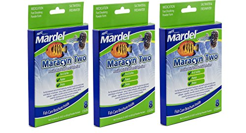 Maracyn Two Powder ((3 Pack) Fritz Aquatics 8 Count Mardel Maracyn 2)