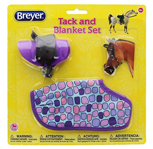 Breyer 1:12 Classic Model Horse Tack and Blanket Set, Purple & Pink