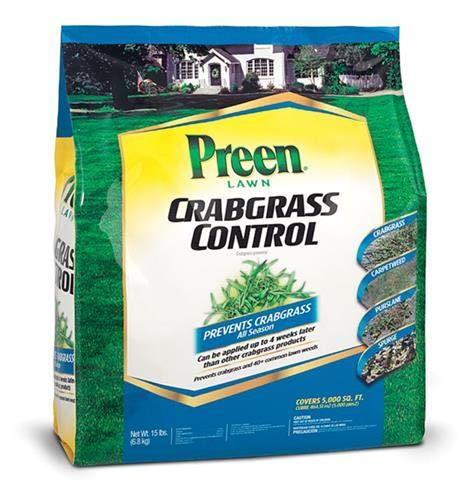 Preen 100512777 396703 2464151 Crabgrass Control, 5000 sq. ft, Brown/A (Best Crabgrass Post Emergent)