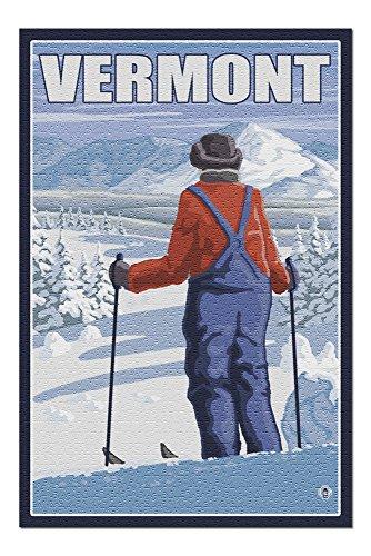 Vermont - Skier Admiring View (20x30 Premium 1000 Piece Jigsaw Puzzle, Made in USA!) -  Lantern Press, LANT-3P-PZ-19582-20x30