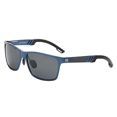 bf4c013c99 ... Lens Magnesium Aluminum frame Polarized sunglasses Wayfarer Men High  Quality Sun Glasses Women JO661 (blue frame gray lenses)  Amazon.co.uk   Clothing