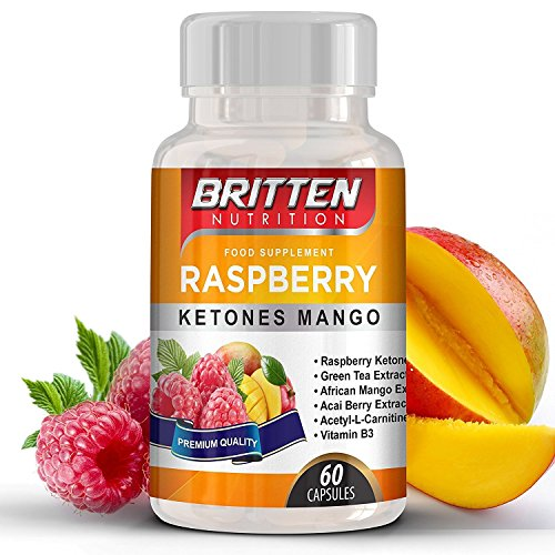 ULTRA Strong Raspberry Ketone Mango – 5000mg – 1 Month Supply – 60 Capsules