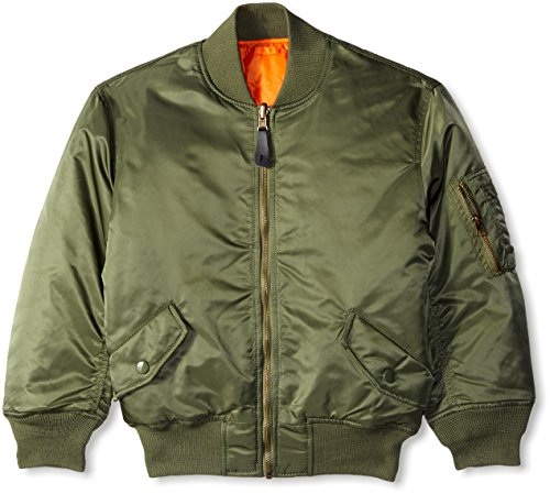 Alpha Industries Boys' Big MA-1 Flight Jacket Y, Sage, YM 10/12