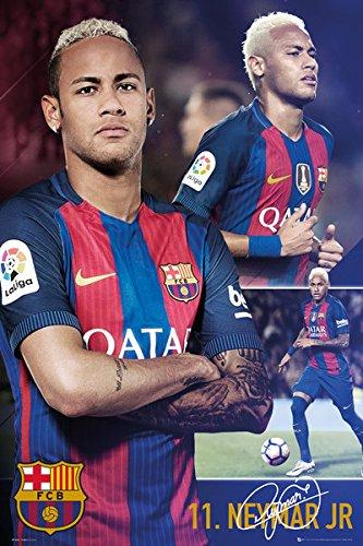 63a1b0e2e Amazon.com  POSTER STOP ONLINE FC Barcelona - Soccer Poster Print (Neymar Jr.  - Collage) (Size  24
