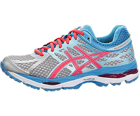 Price comparison product image ASICS Women's Gel-cumulus 17 Running Shoe,  Silver / Hot Pink / Turquoise,  6.5 M US